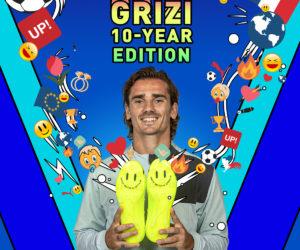 Puma célèbre les 10 ans de carrière d'Antoine Griezmann avec une paire «smiley» (win with a smile)