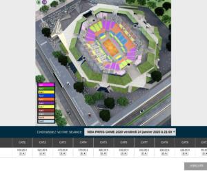 Le prix des places pour le NBA Paris Game 2020 organisé à l'AccorHotels Arena