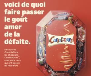 La boîte de chocolats «Celebrations» lance «Consolations» et surfe sur le classico PSG-OM (et la défaite des marseillais)