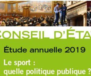 Quelle politique sportive publique ? Le Conseil d'Etat publie son étude annuelle et ses 21 propositions