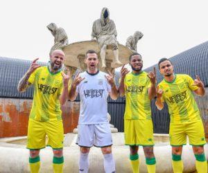 Le Hellfest sponsor maillot face du FC Nantes en Coupe de la Ligue BKT