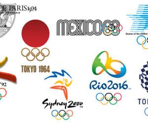 Les logos des Jeux Olympiques d'été depuis Paris 1924