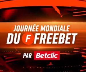 Betclic offre 25 000€ de freebets pour la «Journée Mondial du Freebet»