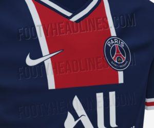 Un premier aperçu des maillots domicile et extérieur 2020-2021 Nike du Paris Saint-Germain avec le retour du style Hechter ?
