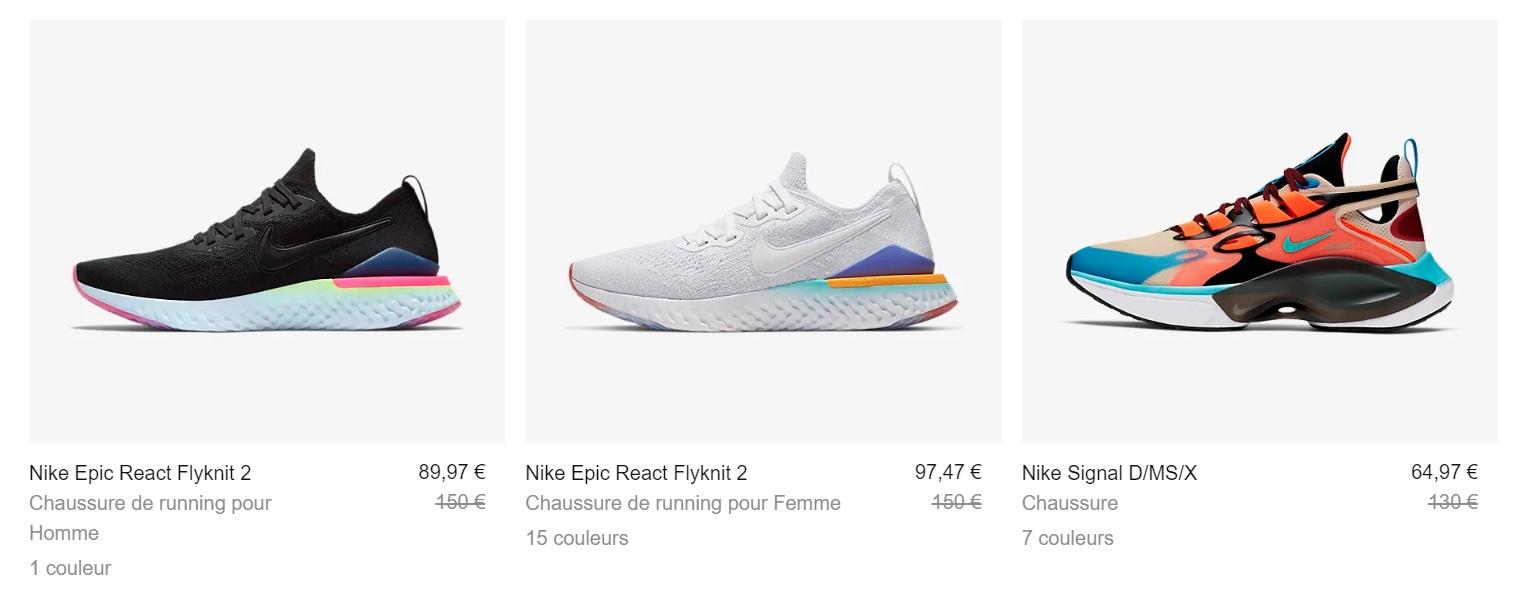 Bon Plan : Nike offre jusqu'à 50% sur une sélection de
