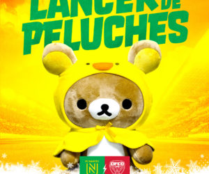Le FC Nantes organise un lancer de peluches à la Beaujoire