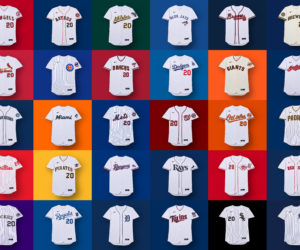Le logo Nike sur la face avant des maillots de Major League Baseball (MLB) dès 2020 agite les fans