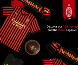 Puma dévoile le maillot anniversaire des 120 ans de l'AC Milan