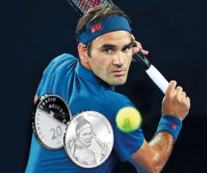 Roger Federer honoré de son vivant avec une pièce de 20 francs suisses à son effigie