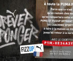 Puma et l'application FizzUp offrent du home training pour tous
