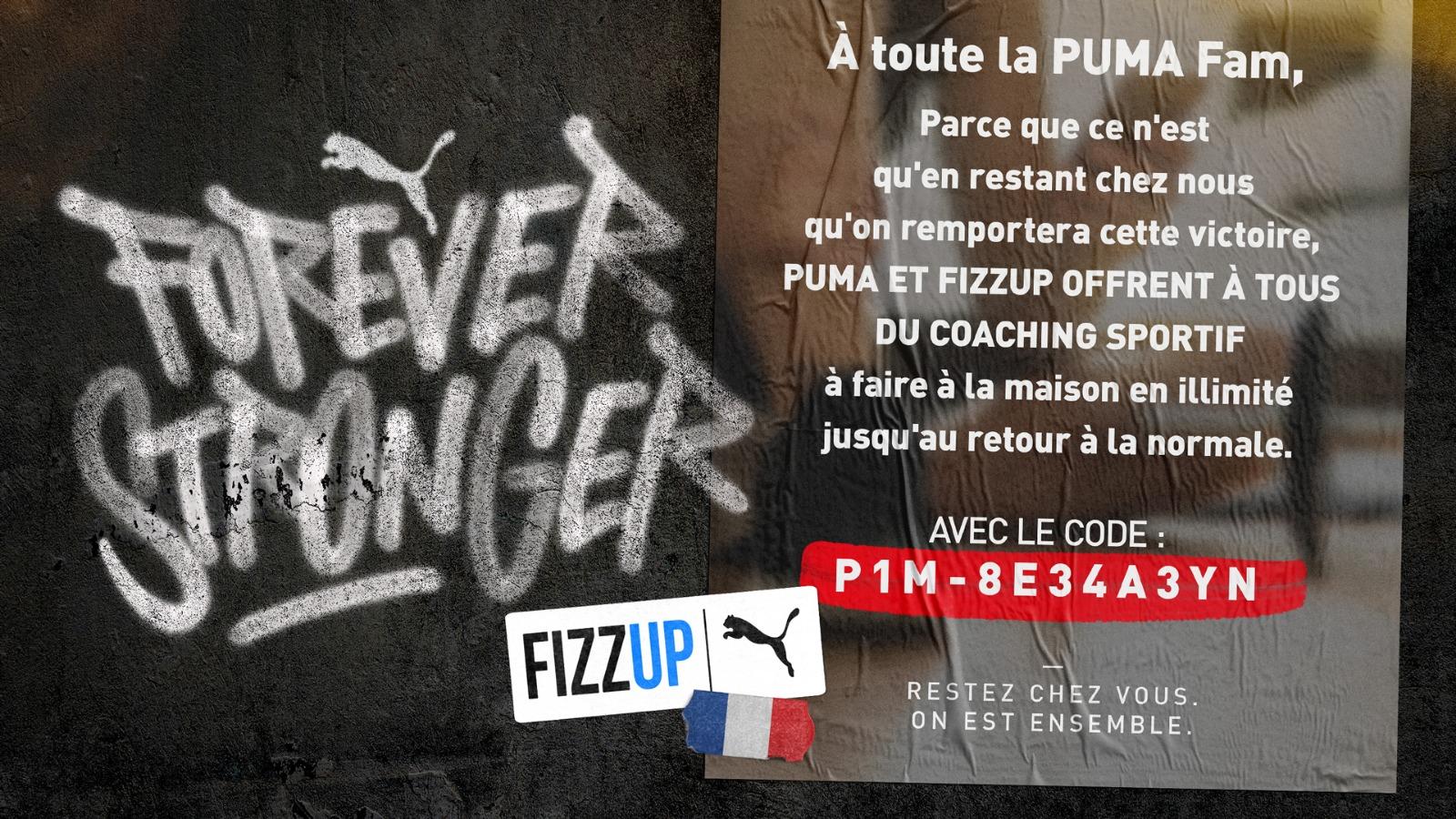 Puma et l'application FizzUp offrent du home training pour