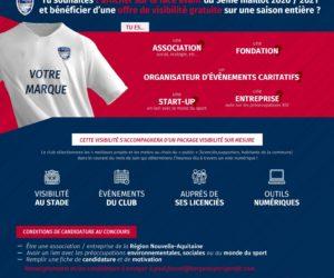Sponsoring – Le Bergerac Périgord FC lance un appel à candidature pour offrir la face avant de son maillot Third pour la saison 2020-2021