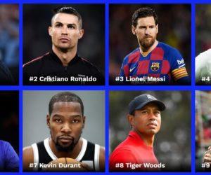 Forbes dévoile son classement des sportifs les mieux payés lors des 12 derniers mois (2019-2020)