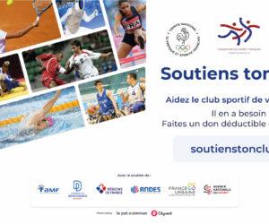 COVID-19 – Les clubs sportifs français peuvent recevoir des dons grâce à la nouvelle plateforme soutienstonclub.fr