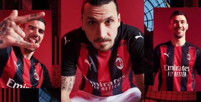 Puma présente le nouveau maillot domicile de l'AC Milan pour la saison 2020-2021