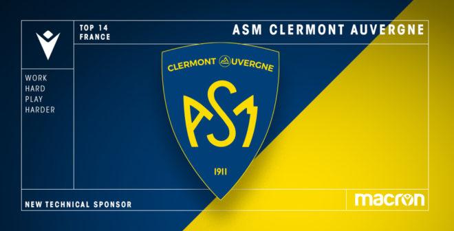 Rugby – Macron nouvel équipementier de l'ASM Clermont Auvergne jusqu'en 2025