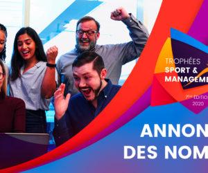 La liste des nommés pour les Trophées Sport & Management 2020