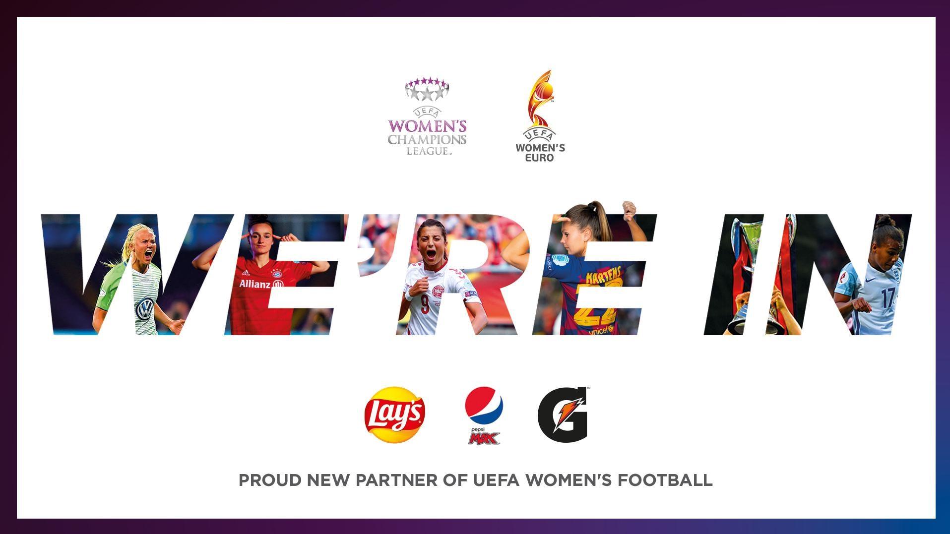 Pepsico nouveau sponsor de l'UEFA Euro Féminin et de l'UEFA Women's Champions League jusqu'en 2025 - Championnat d'Europe de Football 2020