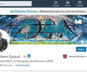 Le Président de l'OM Jacques-Henri Eyraud nouvel influenceur LinkedIn