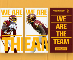 NFL – Sans nouveau nom, la franchise de Washington lance la campagne « No Name but TEAM »