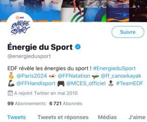 EDF change l'identité de ses comptes «sport» sur les réseaux sociaux