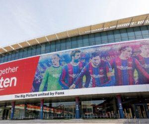 FC Barcelone – Rakuten dévoile sa nouvelle publicité géante sur la façade du Camp Nou