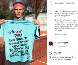 Les sponsors de Rafael Nadal célèbrent son 13ème Roland-Garros et son 20ème Grand Chelem