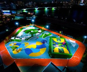 Nike dévoile un parc sportif inspiré de 6 sneakers (Tokyo Sport Playground)
