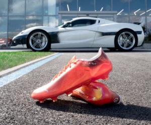 Puma dévoile des crampons en association avec Rimac (Hypercar électrique) portés par Antoine Griezmann