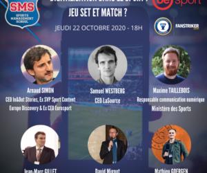 Sports Management School organise un webinaire dédié à la digitalisation dans le sport (jeudi 22 octobre à 18H)