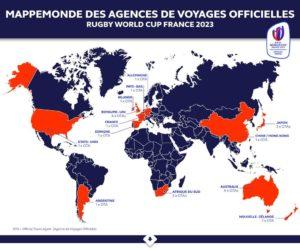 22 agences de voyages retenues pour la Coupe du Monde de Rugby France 2023