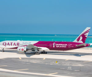Qatar Airways dévoile un avion « Coupe du Monde de la FIFA 2022 »