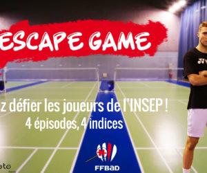 Confinement – La Fédération Française de Badminton lance un Escape Game Virtuel