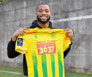 Synergie affiche le numéro du Téléthon «3637» sur le maillot du FC Nantes contre Strasbourg