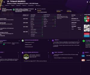 A recruter (stage) : Thibault MAURICE – Chargé de communication (CV Façon «Football Manager»)