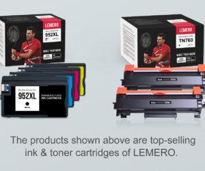 Tennis – Novak Djokovic nouvel ambassadeur de la marque Lemero (cartouches d'encre)