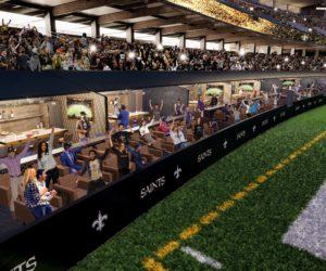 NFL – Des loges en bord terrain pour les New Orleans Saints au Mercedes-Benz Superdome