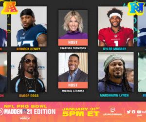 NFL – Le Pro Bowl sur le jeu vidéo Madden 21 d'EA Sports en présence de célébrités