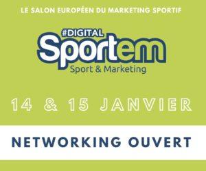 Evènement – Participez au «Digital Sportem» (14 & 15 janvier 2021), le salon du marketing sportif