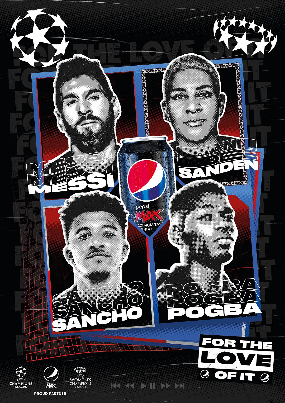 """UEFA Champions League - Pepsi dévoile sa nouvelle publicité """"Fizz to Life"""" (Pogba, Messi, Sancho) - Euro 2020"""