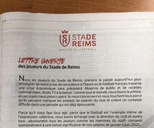 Baisse des salaires – Les joueurs du Stade de Reims publient une lettre ouverte