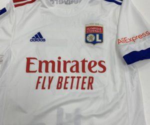 AliExpress nouveau sponsor sur la manche de l'Olympique Lyonnais