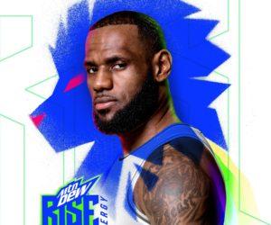 Pepsico active son partenariat avec LeBron James autour de la nouvelle marque «MTN Dew Rise Energy»
