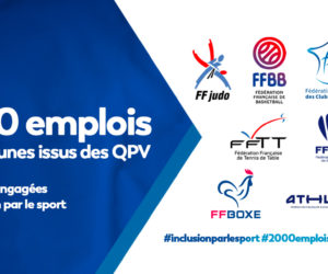7 Fédérations sportives s'engagent pour 2 000 emplois pour les jeunes issus des QPV