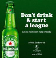 «Don't drink & start a league» – Heineken, sponsor de l'UEFA Champions League, se moque de la Super League