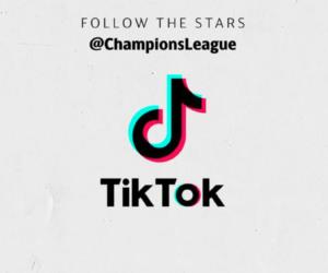 Social Media – L'UEFA Champions League se lance sur Tiktok