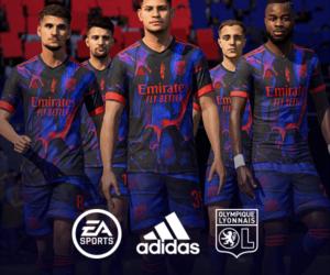 adidas présente le 4ème maillot de l'Olympique Lyonnais disponible uniquement dans FIFA 21