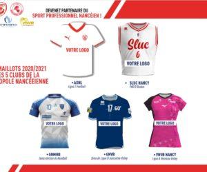 5 clubs professionnels de Nancy lancent une offre de sponsoring maillot commune
