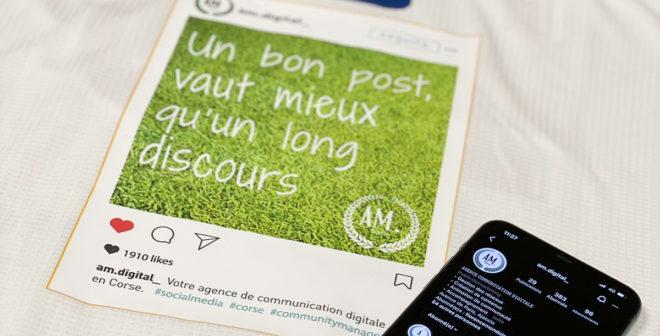 Un Post Instagram sponsor maillot de l'AC Ajaccio pour son match de Ligue 2 contre Châteauroux