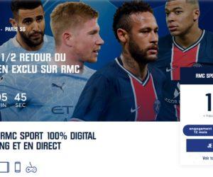 Quel dispositif et quelles offres d'abonnement pour RMC Sport et le match Manchester City – PSG ?